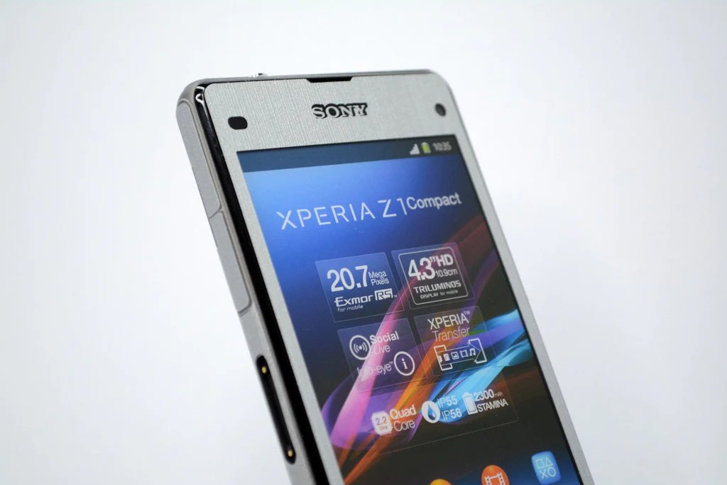 SONY Xperia Z1 COMPACT Brushed SILVER Skin / Cover – EasySkinz