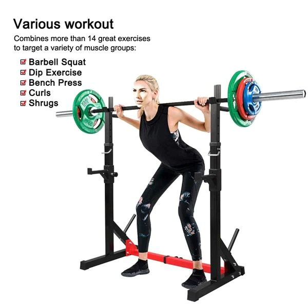 squat rack barbell stand supporting