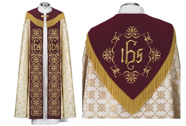 Cope Lined Gold Cross Jacquard Cope Vestment Vestments