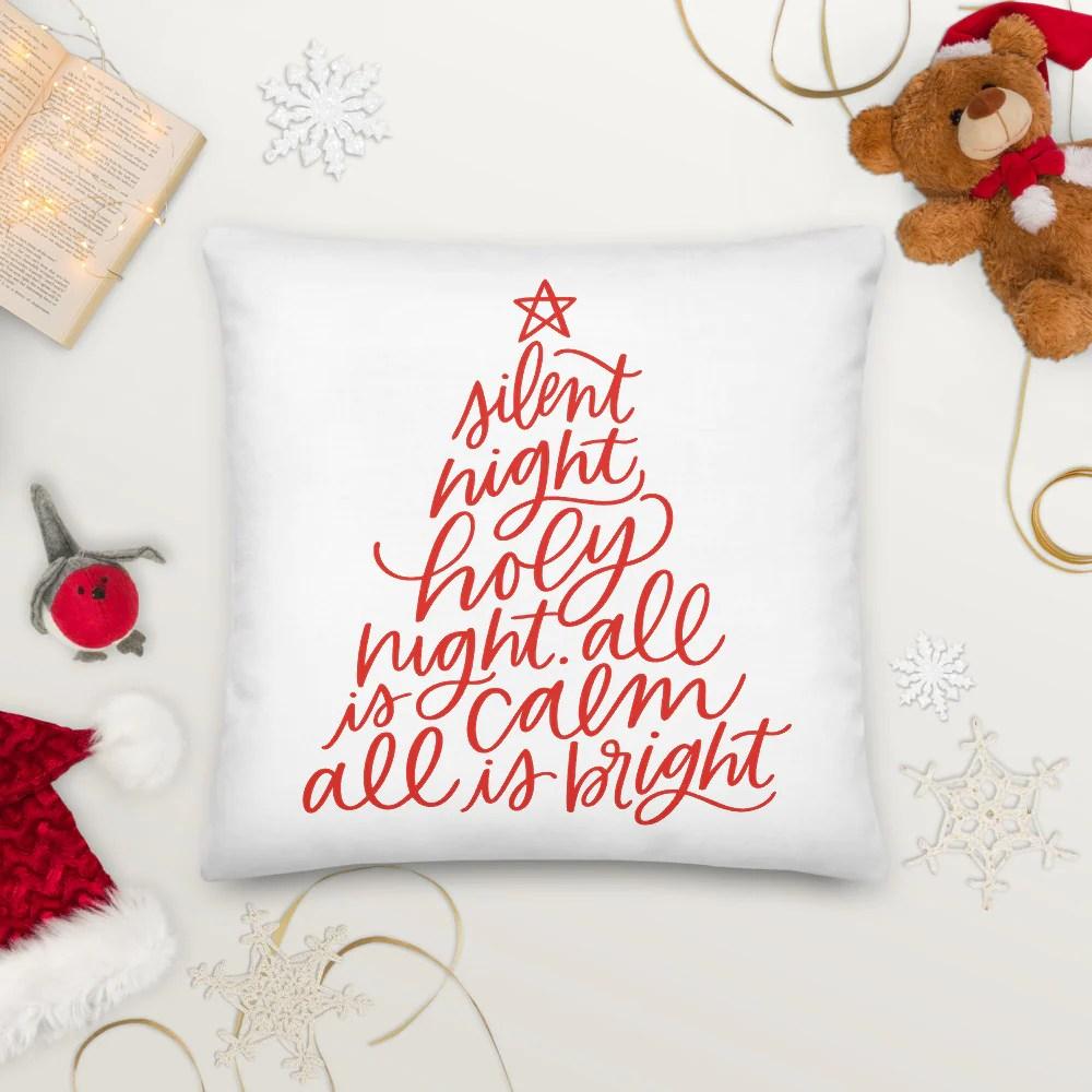 silent night christmas tree throw