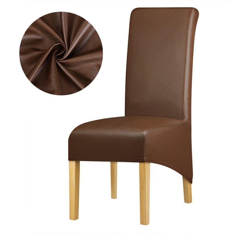 housse de chaise simili cuir decohousse