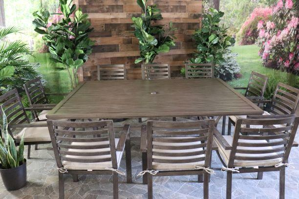 palm springs 11 piece dining 66 x 84 dining table and 10 chairs