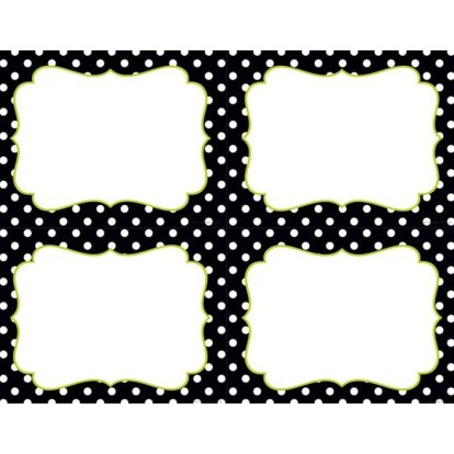 Black and White Dots 4-Up Postcards - Pack of 160