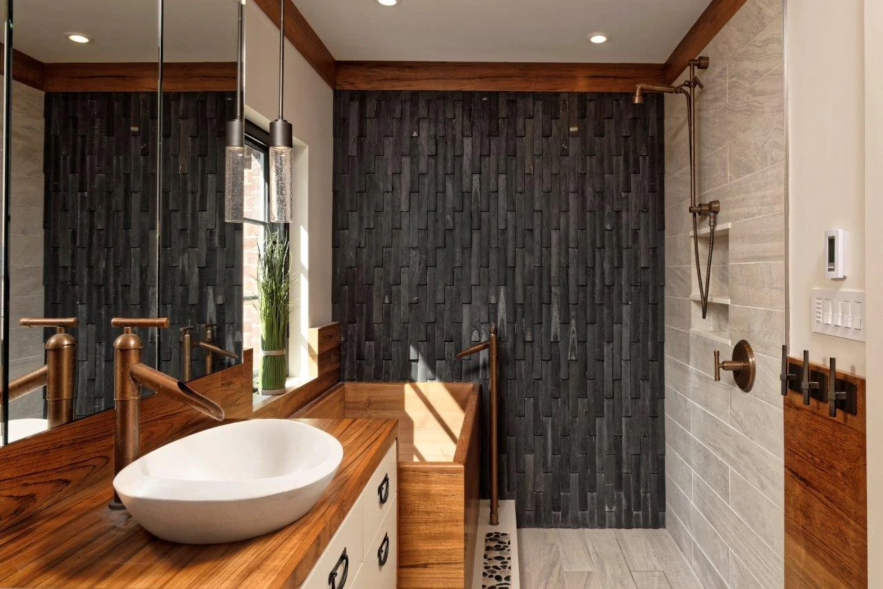 shower accent walls