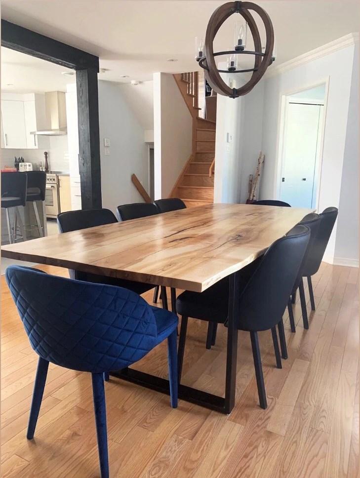 table de cuisine en erable