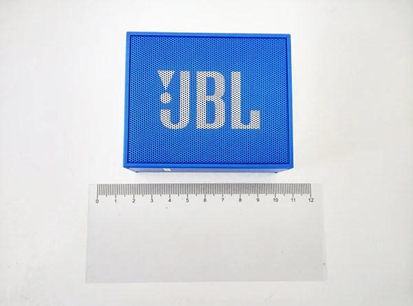 JBL Go with Ruler