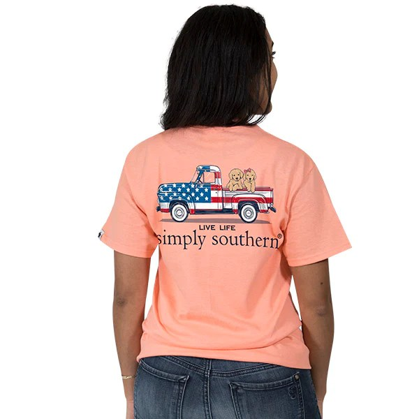 Simply Southern Preppy USA Truck Ivy Collection Unisex T