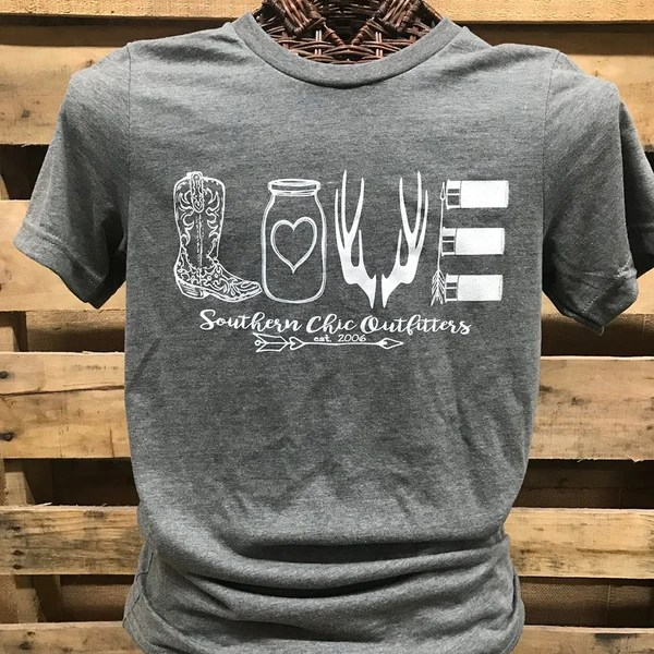 Download Southern Chics Apparel Love Boots Mason Jar Deer Arrows ...