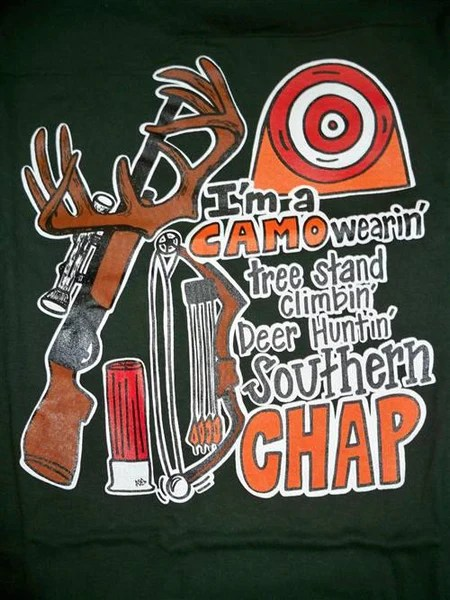 SALE Southern Chaps Funny Tree Stand Camo Fish Hunt
