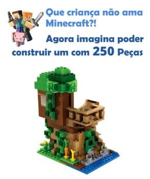 Blocos de Construção Estilo Lego Minecraft Casa na Árvore – Genial Ofertas