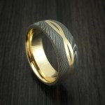 Damascus Steel 14k Yellow Gold Celtic Knot Ring Infinity Design With S Revolution Jewelry Designs