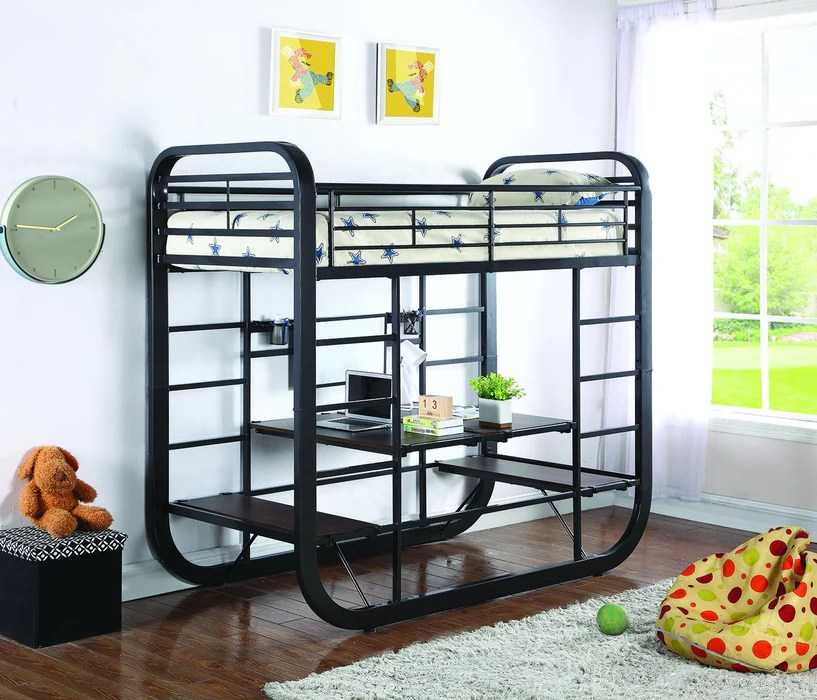 Archer Convertible Bunk Bed With Desk Table Bedz