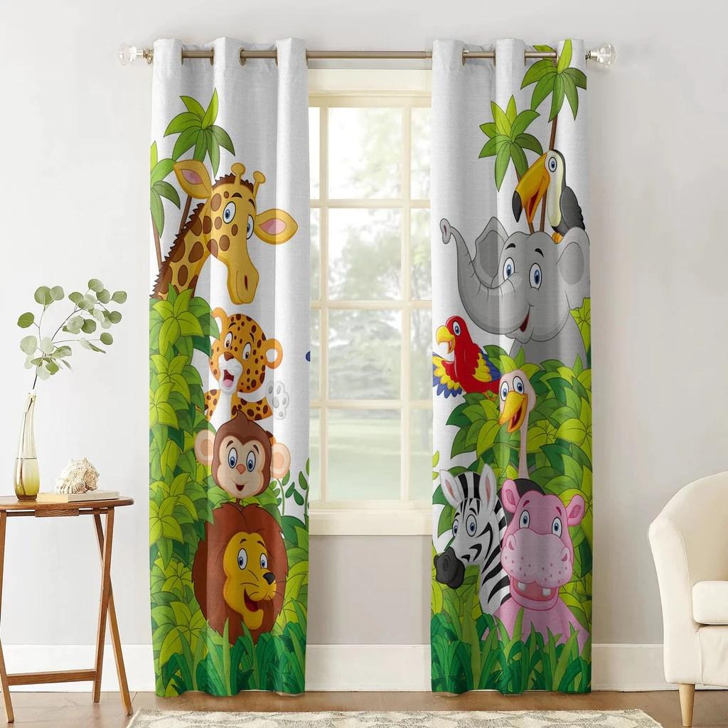 rideau chambre enfant jungle