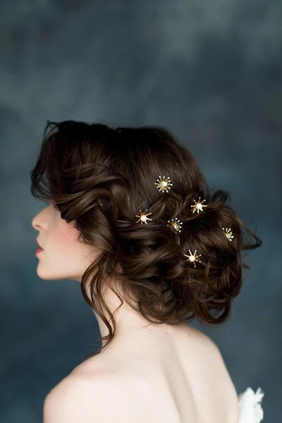 Luna Star Hair Pins Blair Nadeau Bridal Adornments