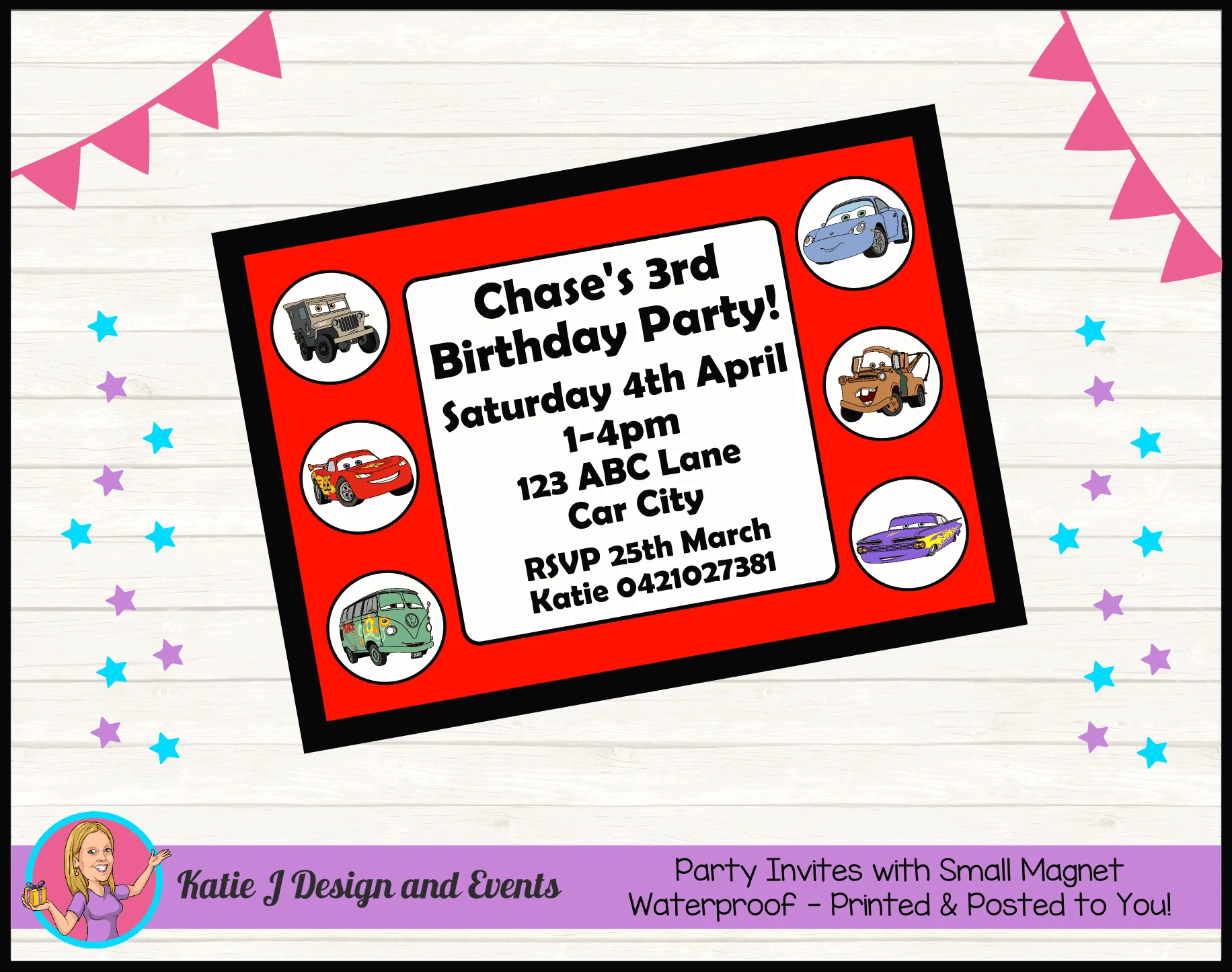 personalised cars lightning mcqueen birthday party decorations