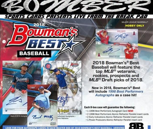 Just Listed Thursday Night 2018 Bowmans Best Baseball 8 Box Case Break Random Team