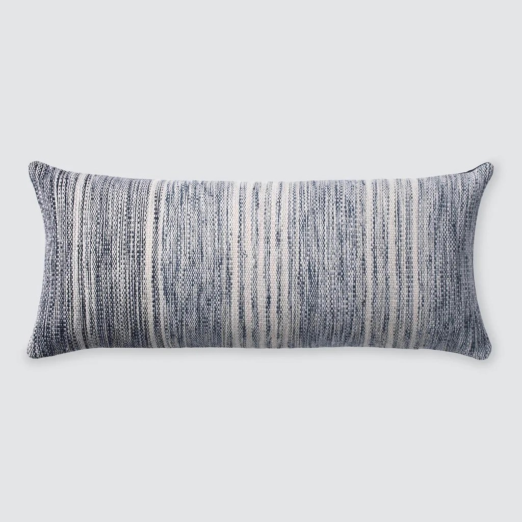 lorena lumbar pillow in blue ombre