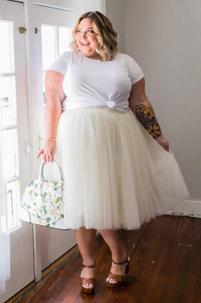 Plus Size Clothing for Women - Society+ Premium Tutu -Champagne - Society+ - Society Plus - Buy Online Now! - 1