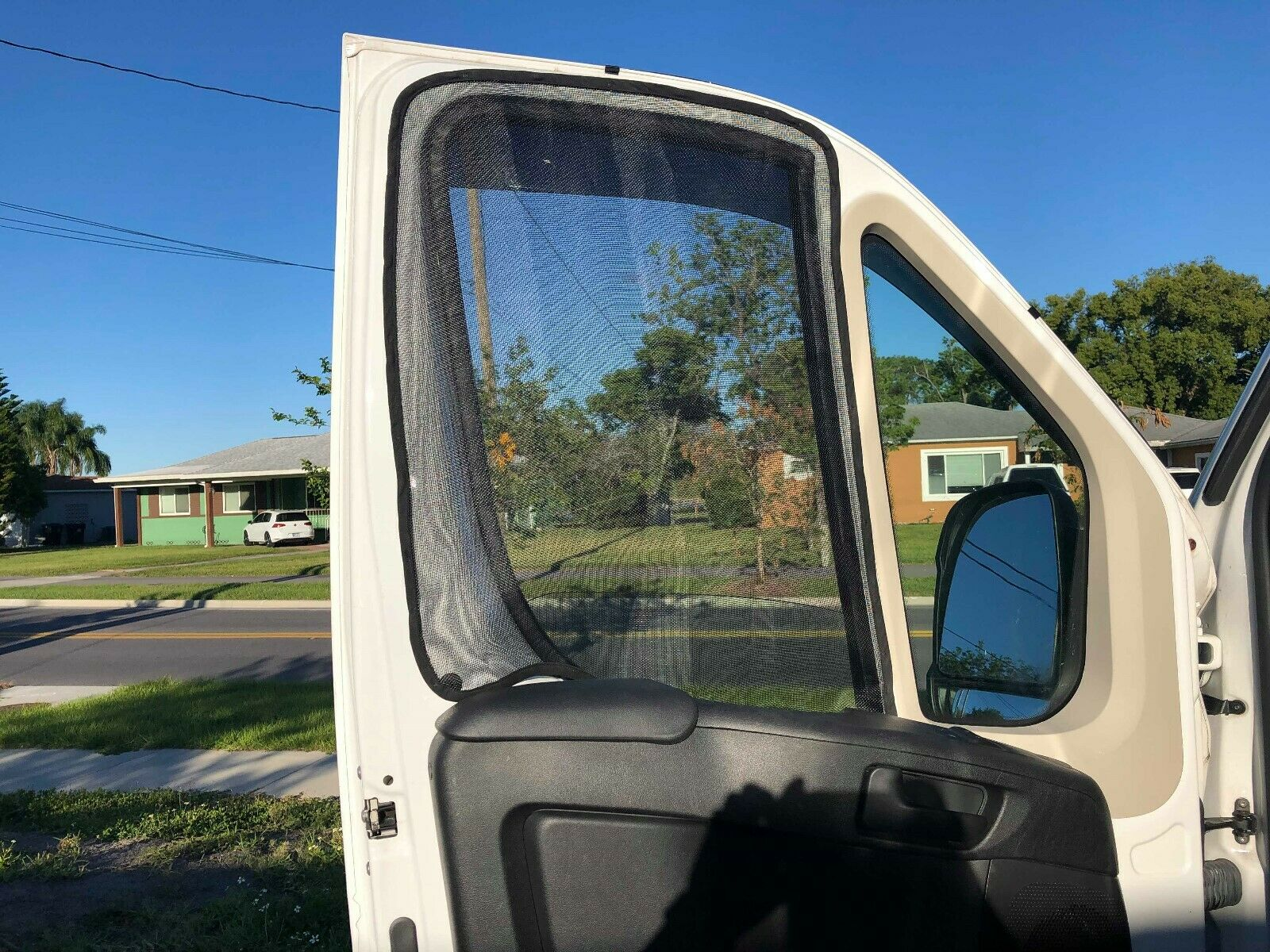 ram promaster front cab magnetic mosquito screens standard high roof