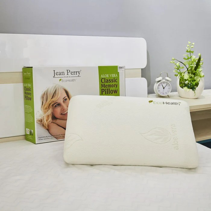 jean perry aloe vera memory foam pillow