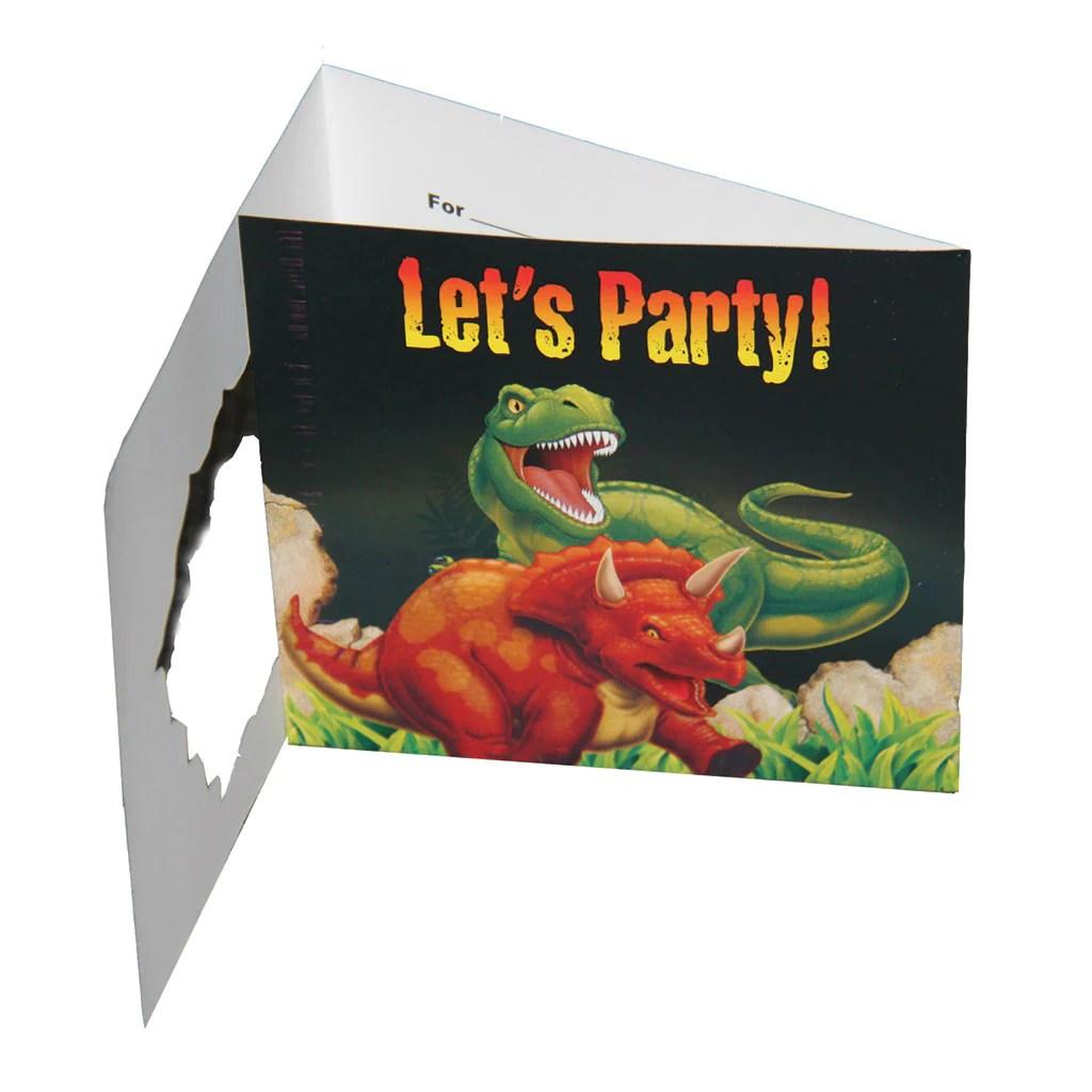 birthday invitations cards by dino blast pack of 8