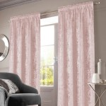 Crushed Velvet Pencil Pleat Curtains Blush Pink Under A Rainbow