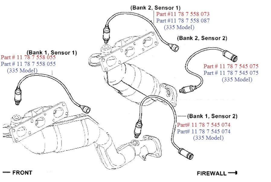 bmw e90 e92 e93 3 series pre cat o2 sensor oxygen sensor oem