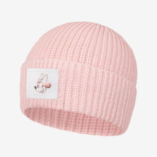 Pre-Order Blush Minnie Mouse Rose Gold Foil Lightweight Cuffed Beanie