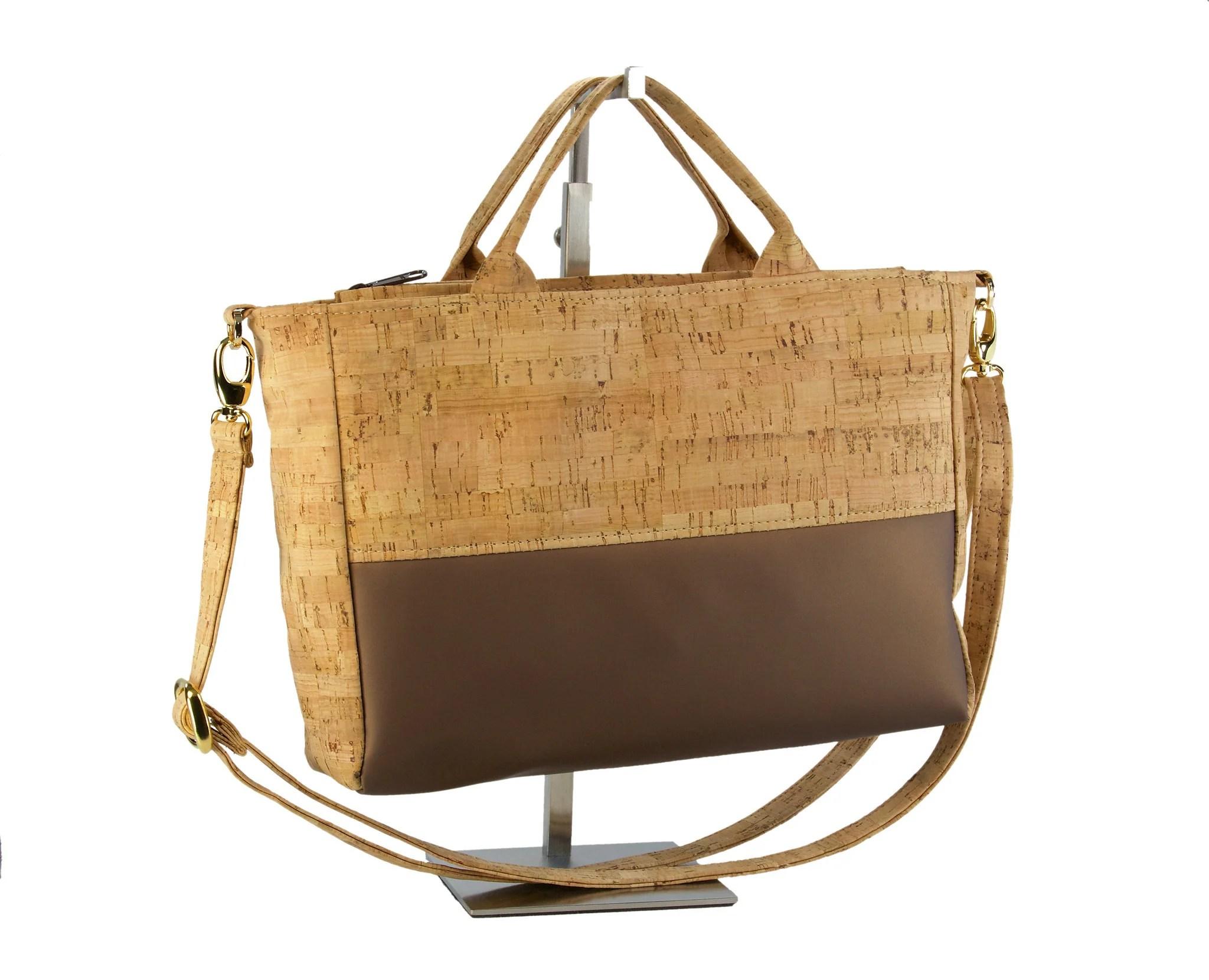 Be Versatile Cork & Leather Handbag