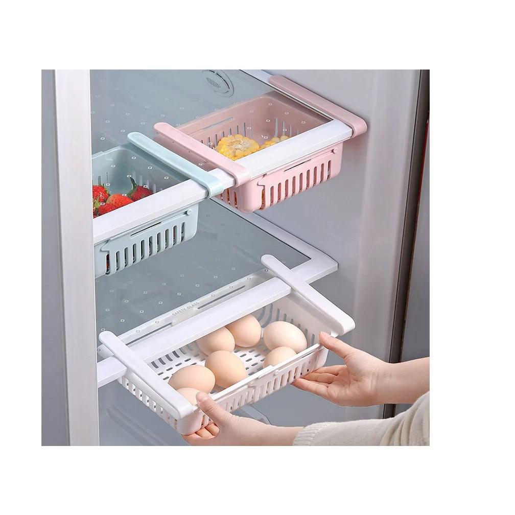 home kitchen appliance fridge organizer kitchen stretchable beverage rack