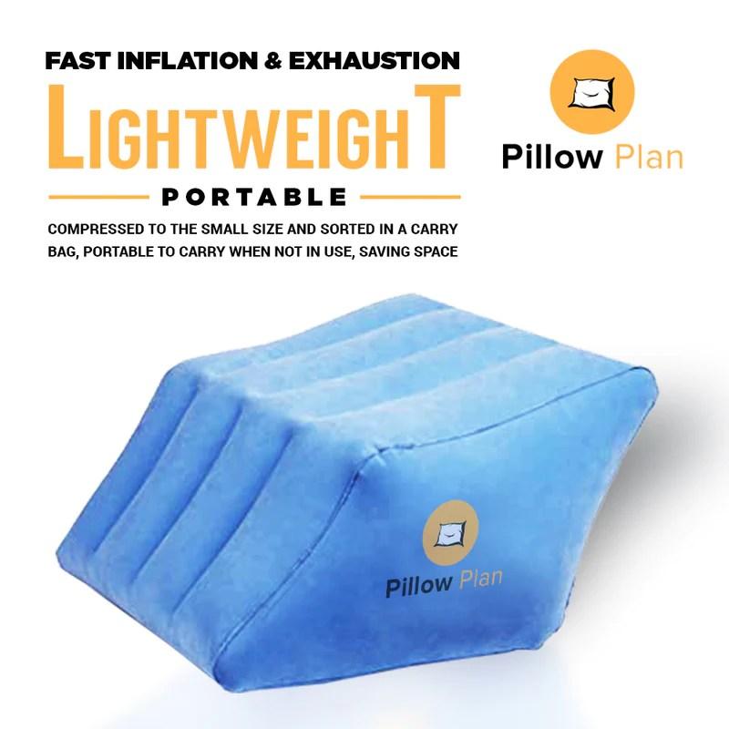 pillow plans leg wedge pillow