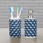 Dachshund Bathroom Toothbrush Holder And Soap Dispenser Set The Smoothe Store