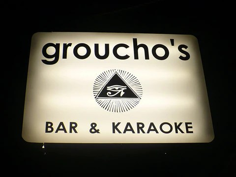 Groucho's Bar & Karaoke Sign in Louisville Kentucky