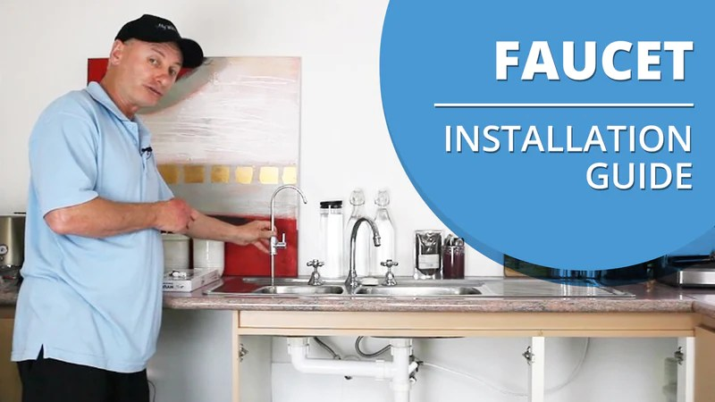 faucet for an under sink water filter