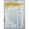 Kat Scrappiness Stitched Fishtail Banner Dies