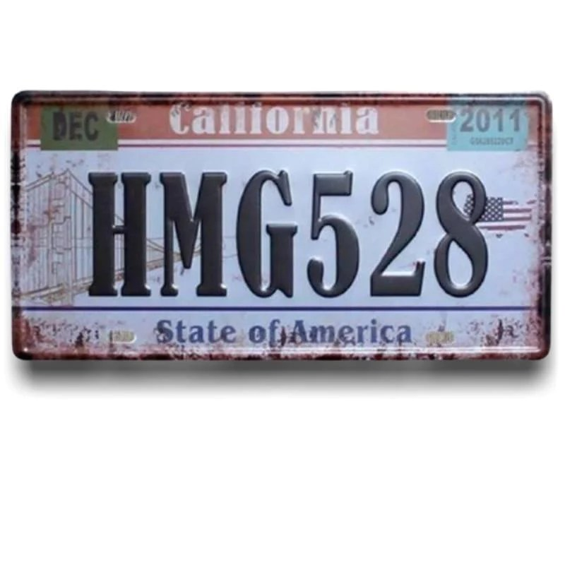 plaques d immatriculation americaine