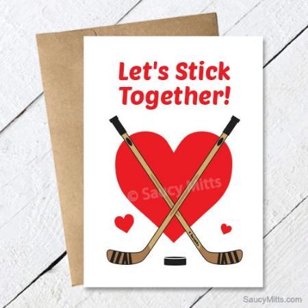Hockey Valentines Cards Saucy Mitts Saucy Mitts Hockey