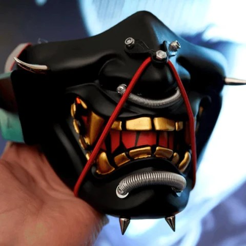 Light Up Samurai Mask