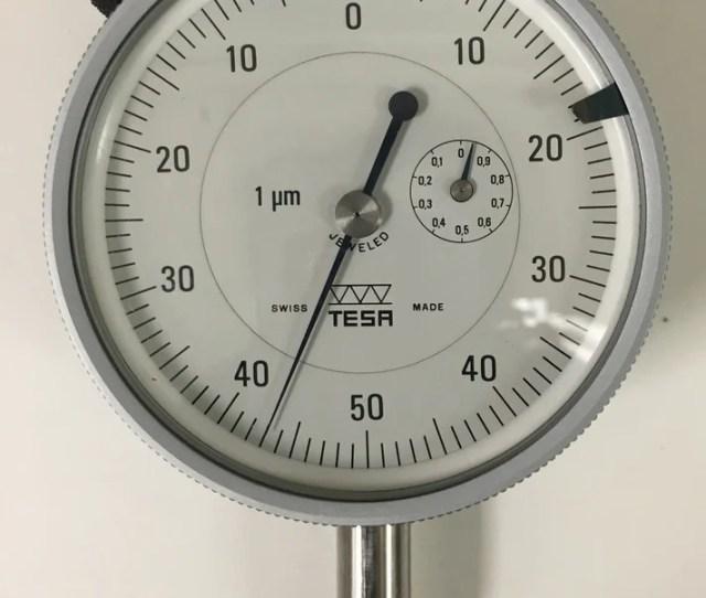 Tesa 014 20401 Dial Indicator 0 1mm Range 0 001mm Graduation Used