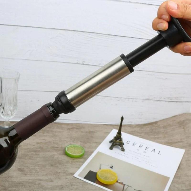 pompe a vin sous vide avec 2 bouchons wine preserver vacuum air pump