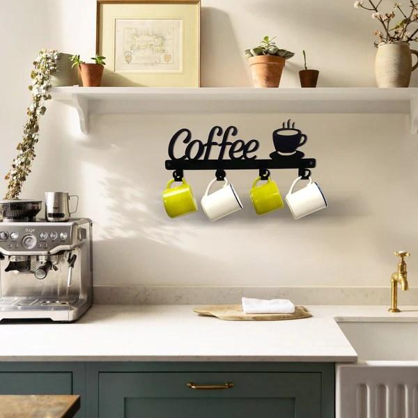 coffee mug holder wall mounted coffee