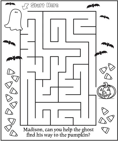 halloween puzzle coloring pages
