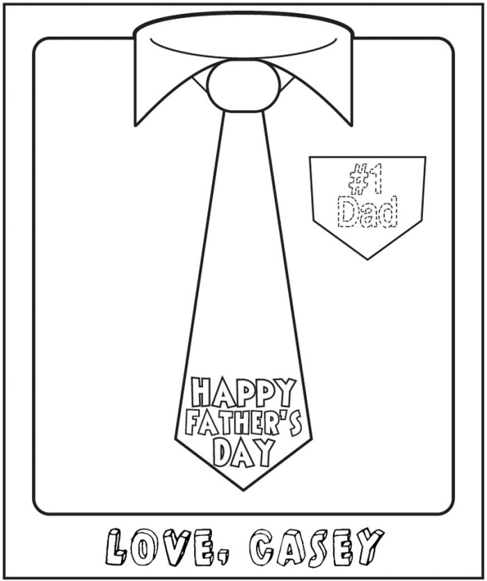 Free Personalized Printable Coloring Page for Father's Day