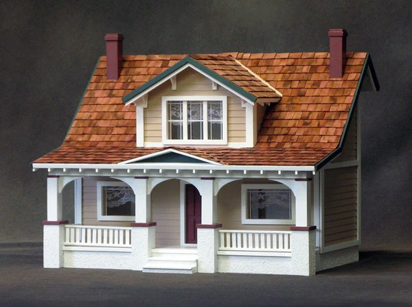 12 Inch Scale Classic Bungalow Dollhouse Kit The