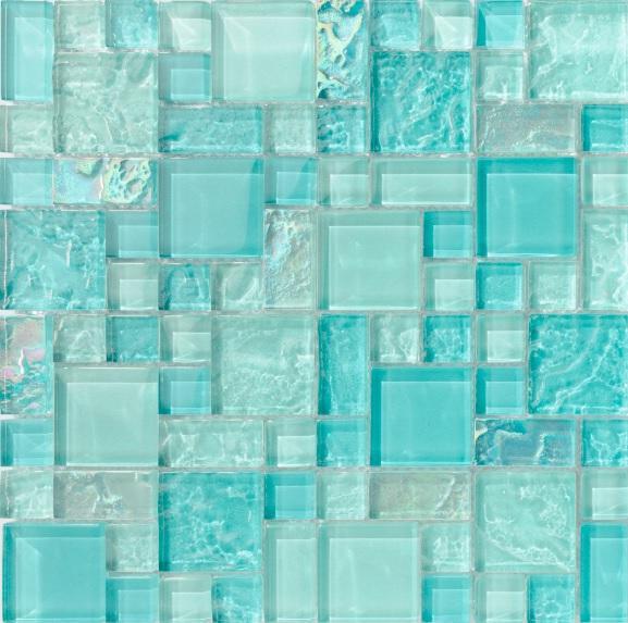 pineapple blue tiles
