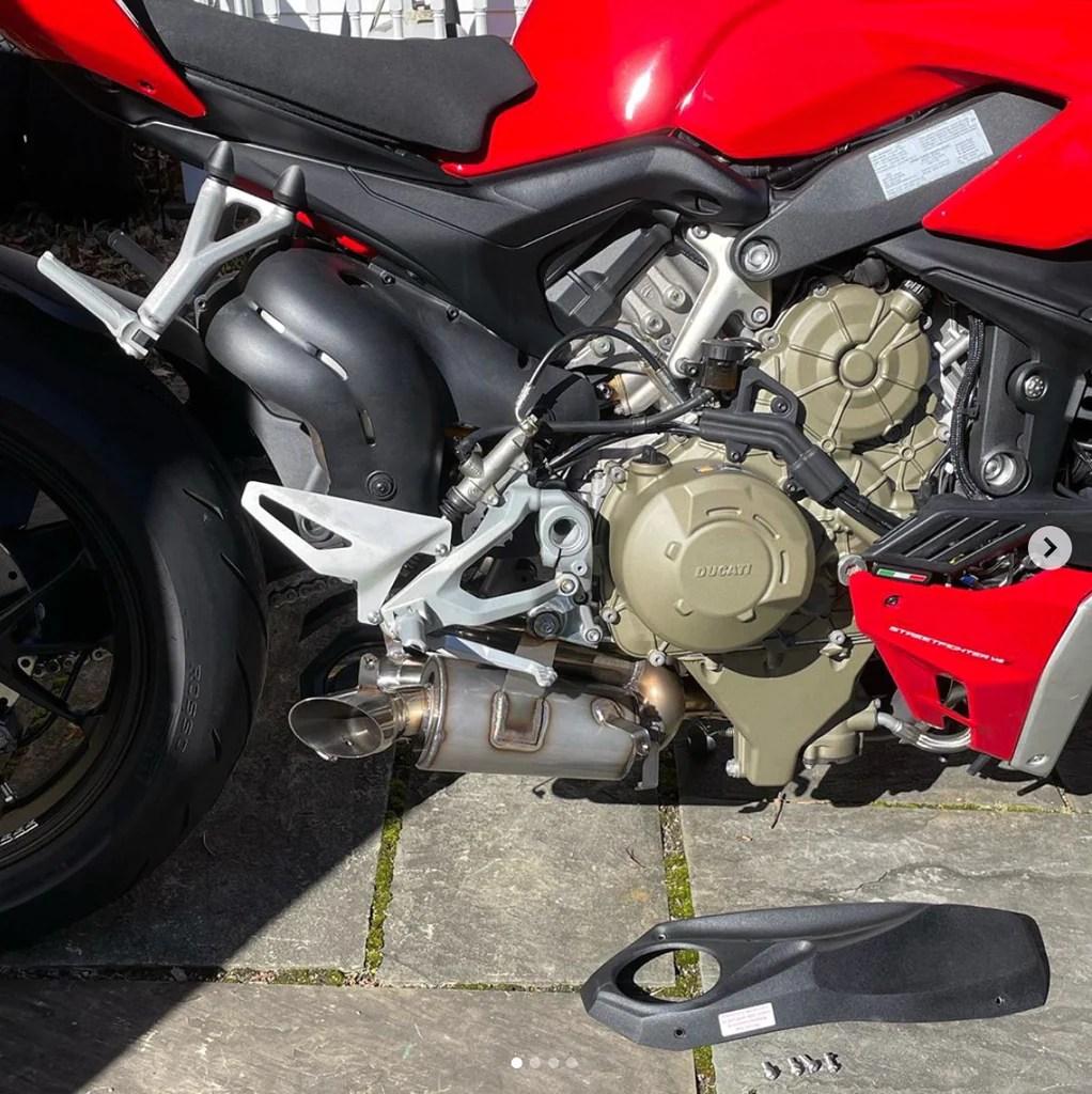 2020 on ducati streetfighter v4 cs racing slip on exhaust muffler db killer non euro 5 models only 2 5hp
