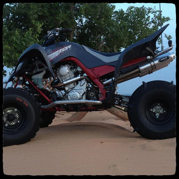 yamaha raptor 700 full dual exhaust system for 2006 2014 models