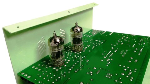 Showing 12AX7 tube inside the VLD1 Legacy driver guitar pedal