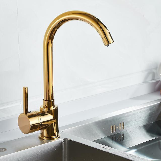 luxury gold kitchen faucet gold brass