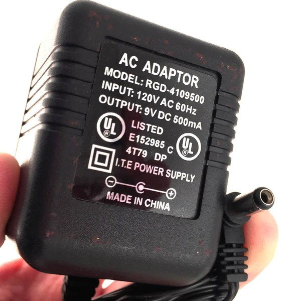 RGD4109500 AC DC OEM Power Supply Adapter Charger 9V DC 500mA – Plugin Replacements